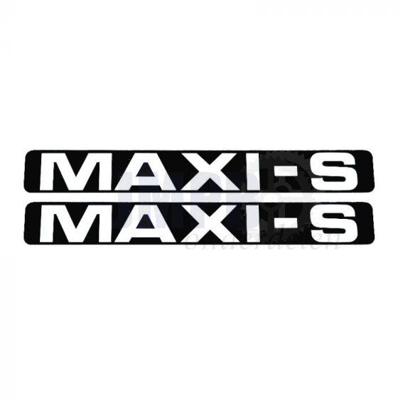 Stickerset Maxi-S Zwart/Wit 172X23MM