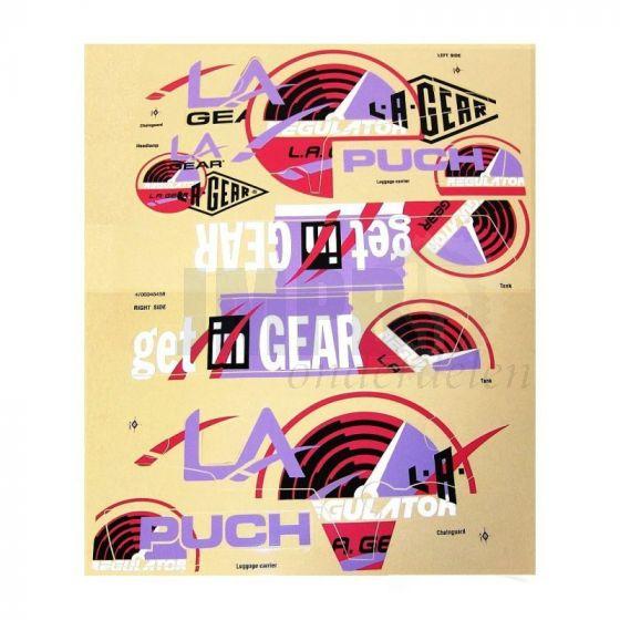 Stickerset Puch LA Gear