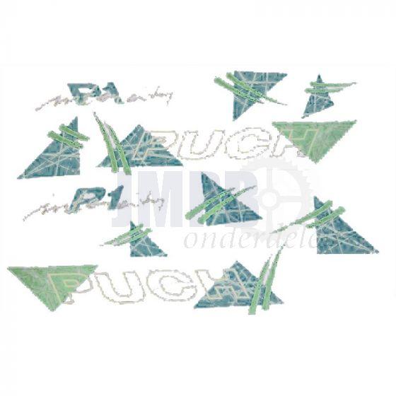 Stickerset Puch P1 Intercity Groen/Wit