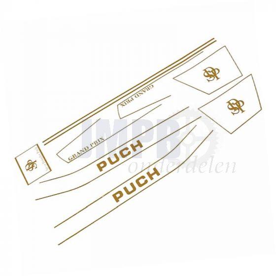 Stickerset Puch Monza SDP Goud Compleet