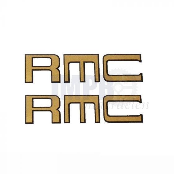 Framestickerset Kreidler RMC Goud/Zwart 70X20MM