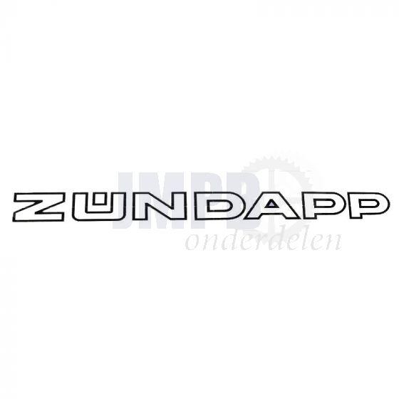 Sticker Zundapp 280X22MM Wit/Zwart Per stuk