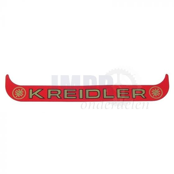 Sticker Plaathouder Breed Kreidler