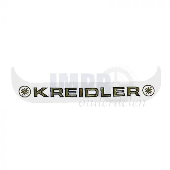 Sticker Plaathouder Smal Kreidler Wit