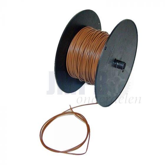Electrisch Draad 0.5MM² Bruin Per Meter