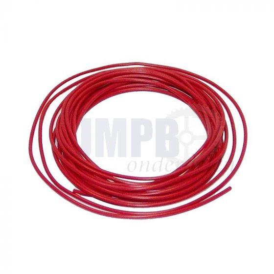 Electrisch Draad 5 Mtr Verp. - 1.0MM² Rood