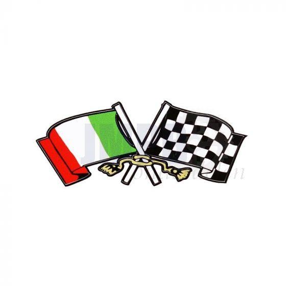 Sticker Italiaanse vlag Klein 68X30MM