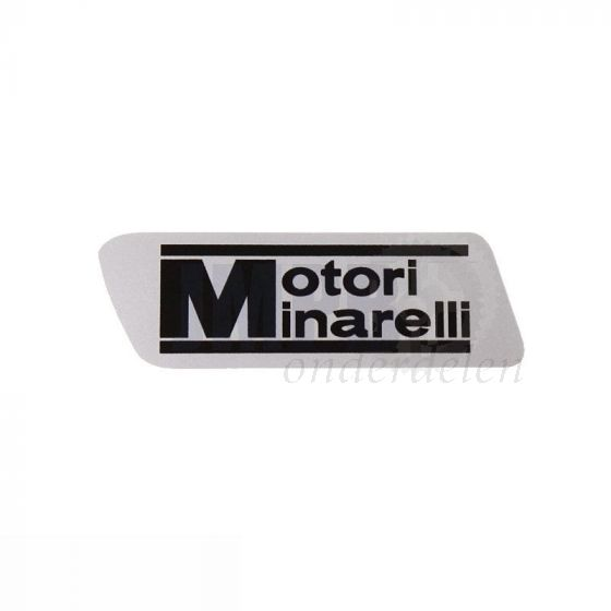 Sticker Motori Minarelli Grijs 60X20MM